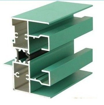 6005 T5 Aluminum Window Extrusion Profiles With Mill Finished / Powder painted / Anodized  Surface