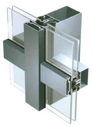 Aluminum 6063 Curtain Walling Systems For Residential Buildings