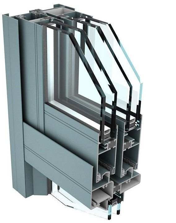 6061 T6 Aluminum Curtain Wall Profile for Industrial Buildings