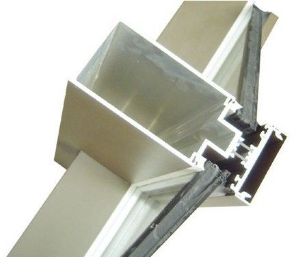 Aluminum Curtain Wall Extruded Profiles With Cutting