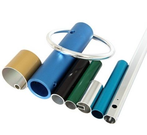 Powder Coated Anodized Aluminum Extruded Tubing / Aluminum Round Tubing With CNC Machining