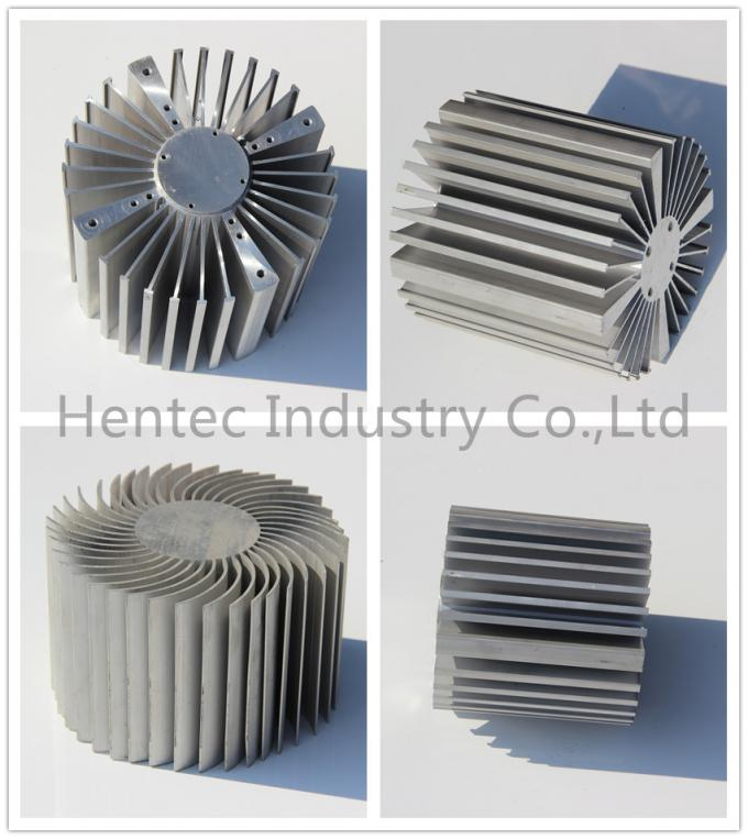 Anodized 6005 / 6060 Aluminum Heatsink Extrusion Profiles For CPU Cooler
