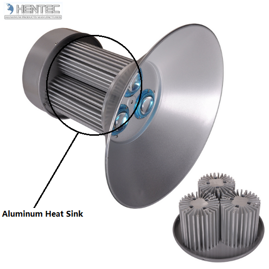 Customized Anodize Aluminum Heatsink Extrusion Profiles For LED Housing