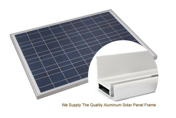 Durable Anodized Aluminum Profile For Solar Panel With Screw Joint / Corner Key Joint 0