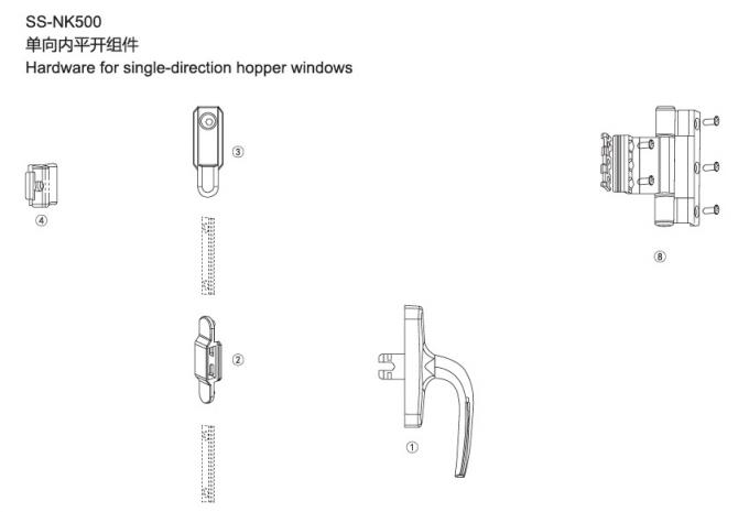 Powder Painted Sliding Patio Door Handles / Window Handle Replacement