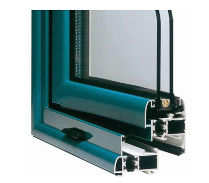 Powder Painted Aluminium Window Extrusions With Termal Strip , Customerized 0