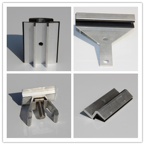 End Clamp Solar Roof Mounting Systems Custom Aluminum Extrusions With Cutting / Drilling
