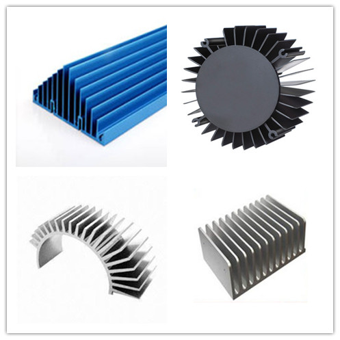 Silver Anodized Industrial Profile Systems Aluminium Cylinder Shell / Aluminum Heat Sink