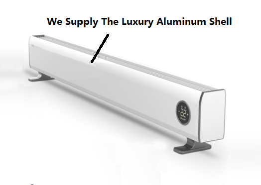 Aluminum Cover / Industrial Aluminium Profile For Electric Wall Mounted Baseboard Heater