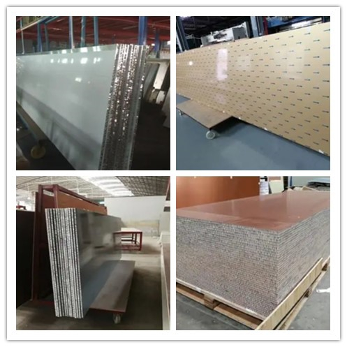 Aluminum Honeycomb Sandwich Panel For Wall Cladding Facades And Roofs