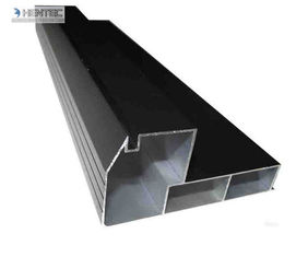 Anodized Extruded Aluminum Profiles / Double Layer Tempered Glass Aluminum Structural Framing