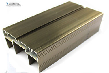 2.0 MM Thick Champagne Anodized Aluminum Door Extrusions For Silding Door / Casement Door