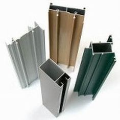 China Extruded T6 6061 Aluminium Profiles , Fluorocarbon Powder Spray Coated Profiles Extrusion supplier