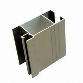 Customized Black Aluminum Door Extrusions Mill Finished / Anodized