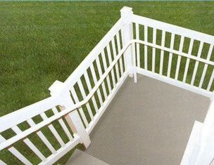 China silver Exterior Aluminum Hand Railings with T4 , T5 , T6 Temper supplier