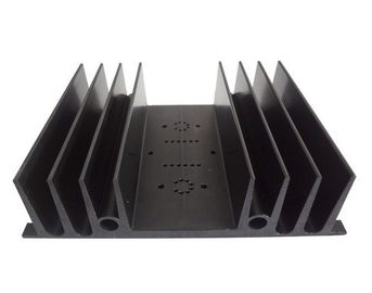 China Anodized 6063 / 6061 Aluminum Heatsink Extrusion Profiles With silvery , black Color supplier