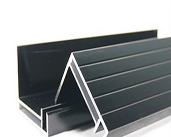 China Black / Silvery Anodized Aluminum Solar Panel Frame European Standard supplier