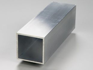 China Silver Aluminium Profile Extrusion Rectangular Tube Thin Wall Extruded Aluminum Shapes supplier