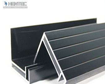 China 6063 T5 / T6 Aluminum Solar Panel Frame With Screw Joint / Corner Key Joint supplier