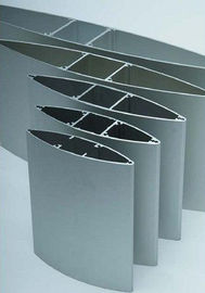 China Silvery / Black Anodizing Industrial Exhaust Fan Blades Aluminum Louvers Panel supplier