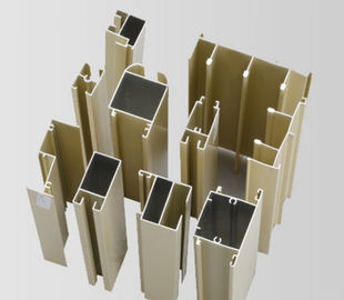 China Powder Painted / Anodized Aluminum Extrusion Profiles For Side Hung Doors supplier