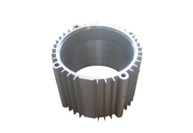 China Customized Industrial Aluminium Profile / Aluminum Extrusion Motor Shell with Sand Blasting supplier