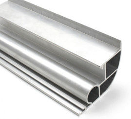China Silvery Anodized  6061 Aluminum Profile Aluminum Extrusion Profile With Drilling / Cutting supplier