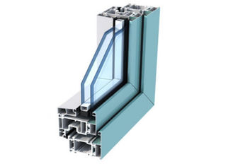 Anodized Aluminum Door Extrusions / Double Layer Tempered Glass Aluminum Structural Framing