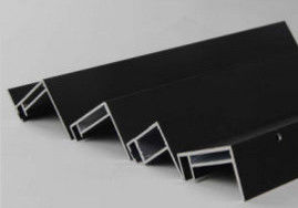 China Black Anodized Aluminum Solar Panel Frame For Roof and Ground supplier
