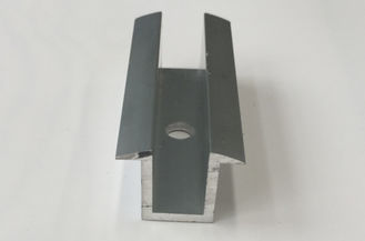 China Mill Finished / Anodized 6063-T5 / 6060-T5 Solar Roof Mounting Systems PV Mid Clamp supplier