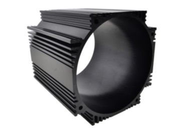 China Black Anodized Industrial Aluminum Profile / Cylinder Shell For Motor Housing supplier
