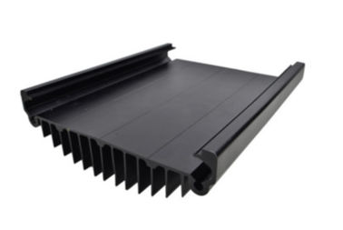 Black Anodized Aluminum Extrusions For Electronics / Electrical Cover