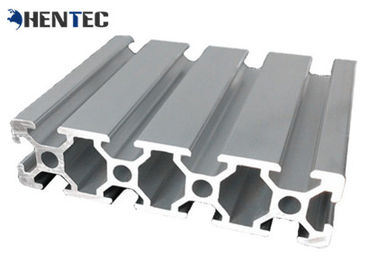 China T - Slot Industrial Aluminum Extrusion Profile Silvery Anodized Suface Treatment supplier