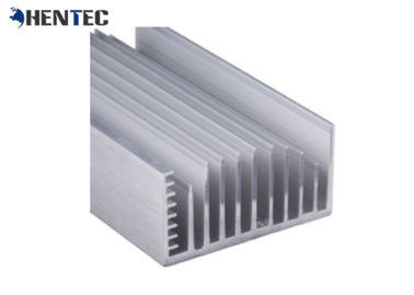 6005 Alloy Alodine Aluminum Heat Sink Extrusion Profiles With CNC Machining