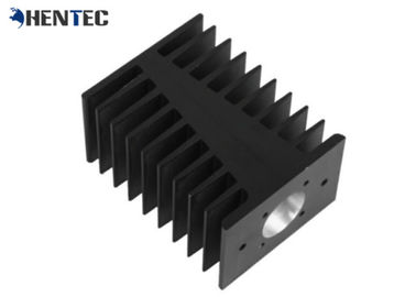 China Black Color Anodized Industrial Aluminium Profiles Customized Aluminum Heat Sink supplier