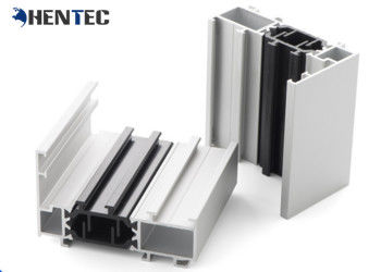 China Powder Painted Aluminium Window Extrusions With Termal Strip , Customerized supplier
