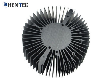 6063 - T5 Cooler / Radiator / Aluminum Heatsink Extrusion Profiles Black Anodized