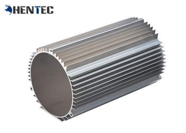 China Custom Made Industrial Aluminium Profile Extrusion Motor Shell With Powder Painting supplier