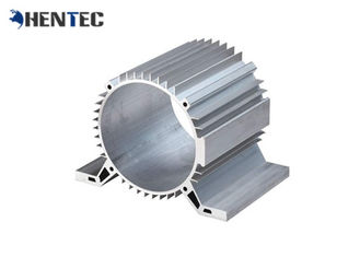 China Silver Anodized Industrial Profile Systems Aluminium Cylinder Shell / Aluminum Heat Sink supplier