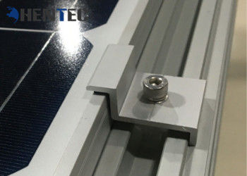 Durable Aluminium Solar Roof Mounting Systems Pv End Clamp Customized Dimensions