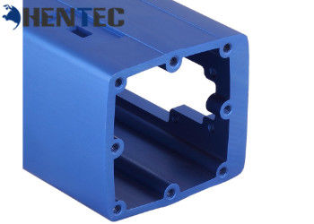 Aluminum Closure / Aluminum Shell Aluminium Profile Section In Blue Color