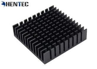 China 6063 Black Anodized Aluminum Heat Sink Extrusion Profiles With CNC Machining supplier