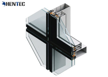 China Powder Painted Aluminum Curtain Wall Profile , Aluminum Extrusion Profile supplier