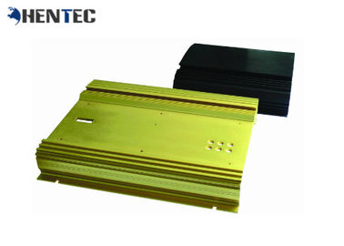 China Electrical Cover / Enclosure Extruded Black Aluminium Profile For Electronics supplier