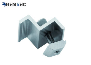 China End Clamp Solar Roof Mounting Systems Custom Aluminum Extrusions With Cutting / Drilling supplier