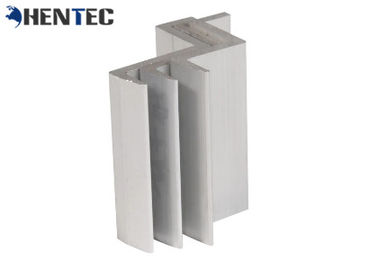 China Anodized Surface PV MID Clamp / Rail For Solar Panel Roof Mounting Systems supplier