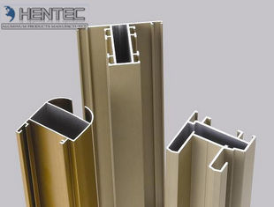 Gold Anodized Aluminum Window Extrusion Profiles , Extruded Aluminum Window Frame