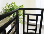 Aluminum Stair Railing For Stairs , Powder Coating / Anodizing Aluminium Exterior Hand Railings