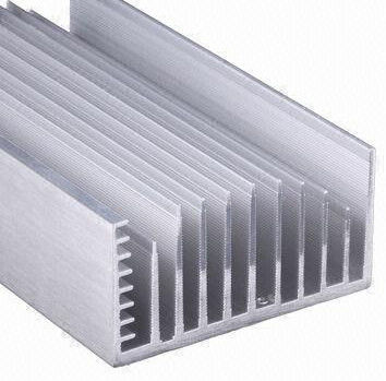 Clear Anodized 6063 T5 Aluminum Led Heat Sink Extrusion