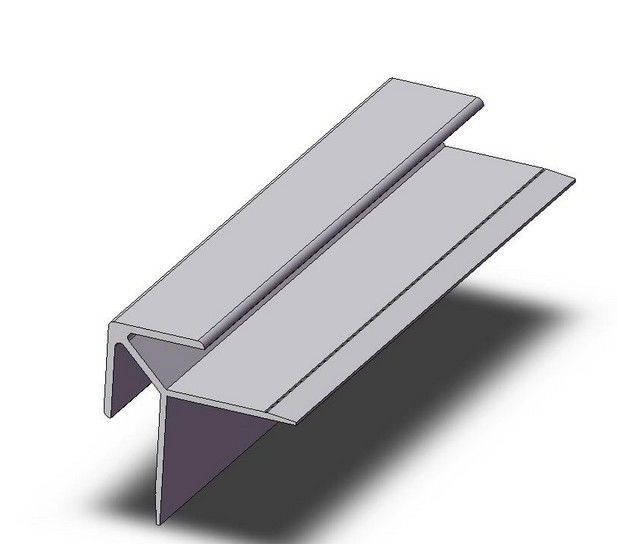 Product Aluminium Sections : Aluminum extrusion corner thin wall with cnc